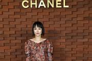 Image has been retouched) Rinko Kikuchi arrives for the Chanel - Collection Metiers d'Art Paris Hamburg 2017/18 at The Elbphilharmonie on December 6, 2017 in Hamburg, Germany.