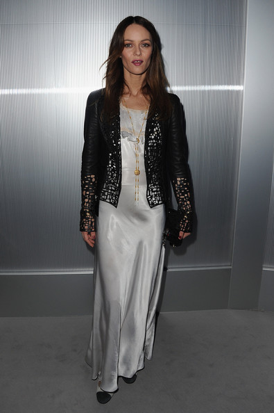 Vanessa Paradis attends the Chanel Haute-Couture Spring / Summer 2012 Show as part of Paris Fashion Week at Grand Palais on January 24, 2012 in Paris, France.