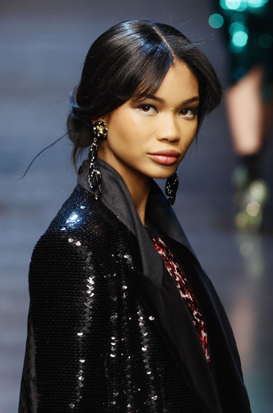 Chanel Iman Model Chanel Iman walks the runway during the Dolce & Gabbana show as part of Milan Fashion Week Womenswear Autumn/Winter 2011 on February 27, 2011 in Milan, Italy.