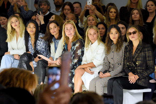 Elie Tahari - Front Row - September 2019 - New York Fashion Week: The Shows [shows,audience,event,people,youth,fashion,performance,crowd,student,convention,academic conference,elie tahari,ellie tahari,leslie sloan,katie holmes,jamie chung,delilah belle hamlin,front row,front row,new york fashion week]