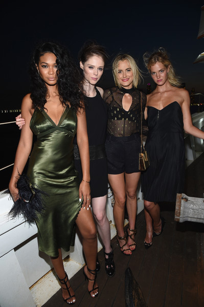 All Aboard! W Hotels Toasts the Upcoming Opening of W Amsterdam with 'Captains' [w hotels toasts,clothing,dress,fashion,little black dress,fashion model,cocktail dress,lady,fashion design,event,leg,chanel iman,coco rocha,captains,taylor schilling,erin heatherton,all,more,opening of w amsterdam,opening]
