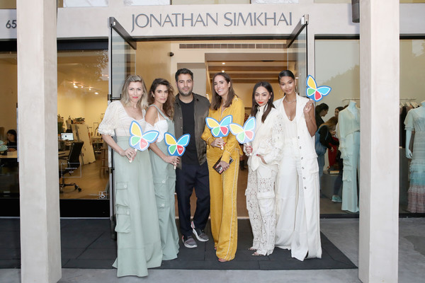 Jonathan Simkhai Supports Children's Hospital L.A. Make March Better [jonathan simkhai supports childrens hospital la make,jonathan simkhai supports childrens hospital la make march better,jonathan simkhai,louise roe,nikki reed,lindsey dupuis bledsoe,monica rose,chanel iman,l-r,event,gown,dress,ceremony,formal wear,boutique,fashion design,costume,west hollywood]
