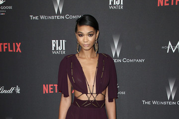 Chanel Iman The Weinstein Company and Netflix Golden Globe Party, Presented With FIJI Water, Grey Goose Vodka, Lindt Chocolate, and Moroccanoil - Red Carpet