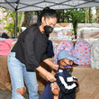 Chanel Iman Baby2Baby Hearts NY - A Covid Relief Diaper Distribution Hosted By Drew Barrymore
