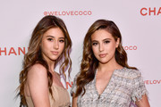 Scarlet Rose Stallone (L) and Sophia Rose Stallone, both wearing Chanel, attend a Chanel Party to celebrate the Chanel Beauty House and @WELOVECOCO at Chanel Beauty House on February 28, 2018 in Los Angeles, California.