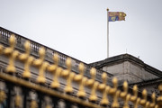 The Royal Standard flies above Buckingham Palace on the day that Queen Elizabeth II is set to move to Windsor Palace in a bid to avoid the COVID-19 coronavirus pandemic on March 18, 2020 in London, England.