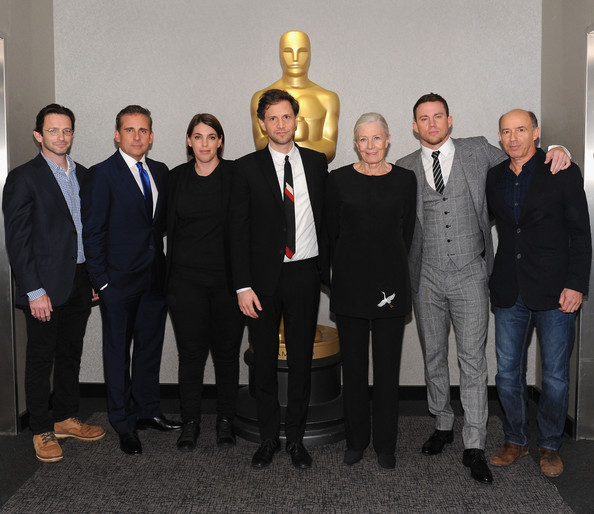 The Academy Of Motion Picture Arts And Sciences Hosts An Official Academy Members Screening Of Foxcatcher [academy of motion picture arts and sciences hosts an official academy members screening of foxcatcher,social group,event,team,suit,white-collar worker,formal wear,management,businessperson,dan futterman,vanessa redgrave,bennett miller,megan ellison,steve carell,channing tatum,jon kilik,l-r,the academy of motion picture arts and sciences]