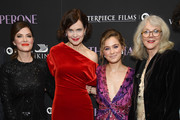 """Victoria Hill, Elizabeth McGovern, Haley Lu Richardson and Blythe Danner attend """"The Chaperone"""" New York Premiere at Museum of Modern Art on March 25, 2019 in New York City."""