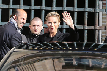 Charlene Wittstock Arrivals at the Louis Vuitton Show