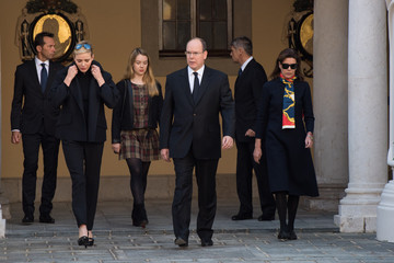 Charlene Wittstock Minute's Silence Held in Monaco to Honour the Victims of the Terrorist Attack