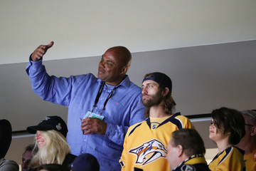 Charles Barkley Celebrities Attend The 2017 NHL Stanley Cup Final - Game Four