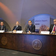 Charles Bean Mark Carney Holds First Inflation Report News Conference