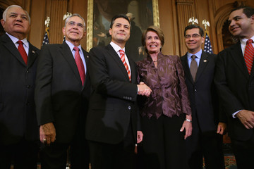 Charles Gonzalez Henry Cuellar Pelosi Meets With Mexican President-Elect Pena Nieto