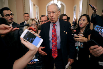 Charles Grassley Members Of Congress Return To Capitol Hill Amidst New Kavanaugh Accusations