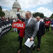 Charles Schumer Senate Democrats Rally Outside US Capitol Against Kavanaugh Nomination