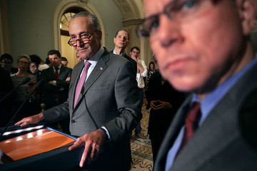 Charles Schumer Senate Legislators Address the Media After Their Weekly Party Luncheons