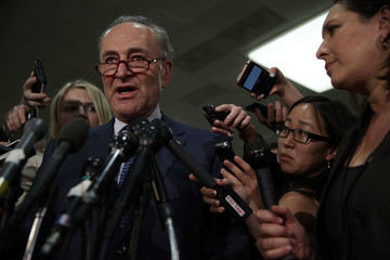 Charles Schumer Senate Select Intelligence Committee Holds Closed Intelligence Briefing