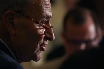 Charles Schumer Senate GOP And Democrats Hold Weekly Policy Luncheons