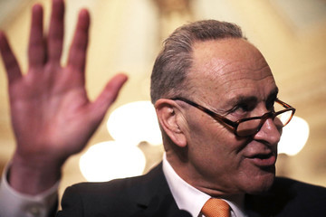 Charles Schumer Senate Legislators Address the Media After Their Weekly Policy Luncheons