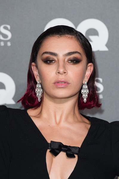 GQ Men Of The Year Awards 2019 - Red Carpet Arrivals [hair,face,lip,eyebrow,hairstyle,beauty,chin,cheek,fashion,ear,red carpet arrivals,charli xcx,gq men of the year awards,england,london,tate modern,charli xcx,london,celebrity,photograph,photography,stock photography,image,nme]