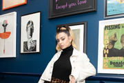 Mentor, Charli XCX presents Nasty Cherry performing at members' club The Curtain, Shoreditch, on November 19, 2019 in London, England. Docuseries 'I'm With the band: Nasty Cherry' was released on Netflix November 15, 2019.