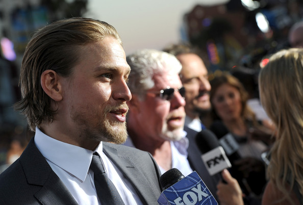 """Charlie Hunnam Actor Charlie Hunnam attends the season 6 premiere of FX's """"Sons Of Anarchy"""" at Dolby Theatre on September 7, 2013 in Hollywood, California."""