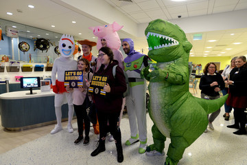 Charlie McAvoy Boston Bruins Bring Toy Story 4 To Life At Boston Children's Hospital for Annual Halloween Visit