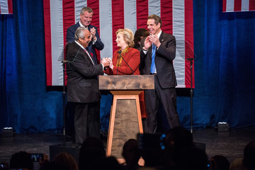 Charlie Rangel Hillary Clinton Meets With Civil Rights Leaders in New York City