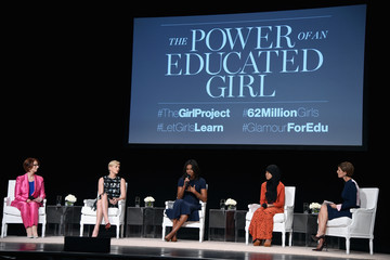 Charlize Theron Glamour Hosts 'The Power of an Educated Girl' with First Lady Michelle Obama