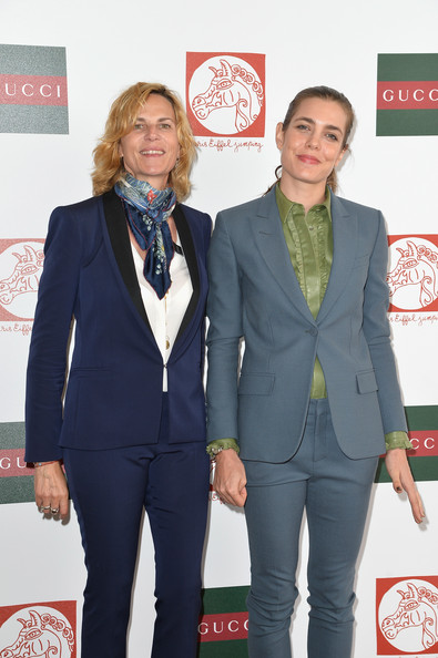 Charlotte Casiraghi (L-R)  Virginie Couperie-Eiffel and Charlotte Casiraghi attend the Paris Eiffel Jumping presented by Gucci at Champ-de-Mars on July 6, 2014 in Paris, France.