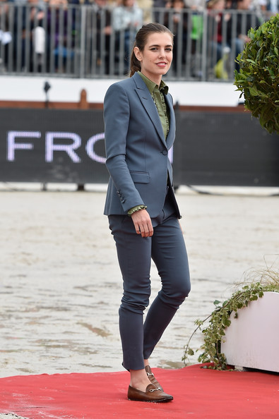 Charlotte Casiraghi Charlotte Casiraghi attends the Paris Eiffel Jumping presented by Gucci at Champ-de-Mars on July 6, 2014 in Paris, France.