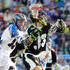 Kevin Drew David Earl Photos - David Earl #33 of the New York Lizards tries to control the ball against Kevin Drew #19 of the Charlotte Hounds during their Major League Lacrosse game at Shuart Stadium on June 21, 2014  in Uniondale, New York. - Charlotte Hounds v New York Lizards