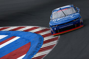Elliott Sadler, driver of the #1 OneMain Financial Chevrolet, practices for the NASCAR XFINITY Series Drive for the Cure 200 at Charlotte Motor Speedway on September 28, 2018 in Charlotte, North Carolina.