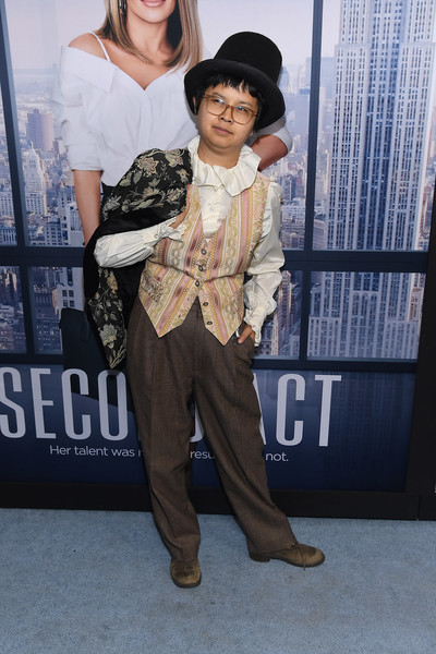 'Second Act' World Premiere [second act world premiere,fashion,outerwear,photography,fashion design,suit,formal wear,black hair,charlyne yi,regal union square theatre,new york city,stadium 14,world premiere]