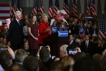 Chelsea Clinton Hillary Clinton Holds Iowa Caucus Night Gathering in Des Moines