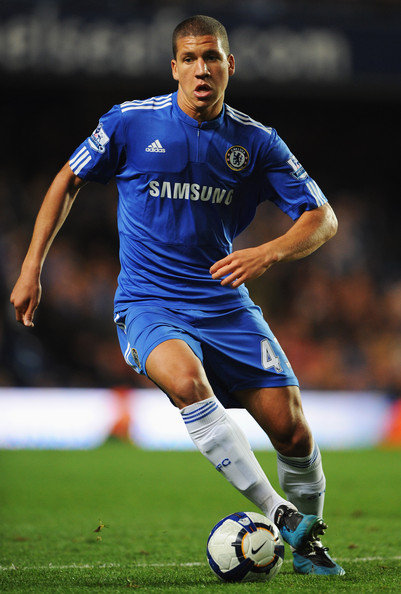 Jeffrey Bruma of Chelsea  in action during the Barclays Premier League match between Chelsea and Blackburn Rovers at Stamford Bridge on October 24, 2009 in London, England.