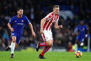Darren Fletcher of Stoke City in action during the Premier League match between Chelsea and Stoke City at Stamford Bridge on December 30, 2017 in London, England.