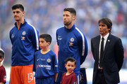 Gary Cahill of Chelsea lines up prior to The Emirates FA Cup Final between Chelsea and Manchester United at Wembley Stadium on May 19, 2018 in London, England.