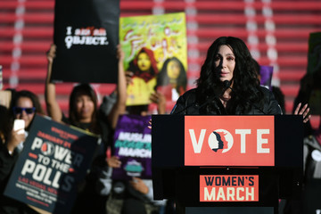 Cher 'Power to the Polls' Voter Registration Tour Launched in Las Vegas on Anniversary of Women's March