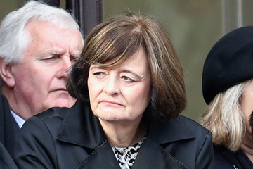 Cherie Blair The Royal Family Lay Wreaths at the Cenotaph on Remembrance Sunday