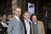 Mark Gatiss (L) attends Chess The Musical press night at London Coliseum on May 1, 2018 in London, England.
