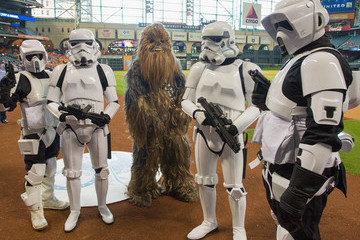 Chewbacca Minnesota Twins v Houston Astros
