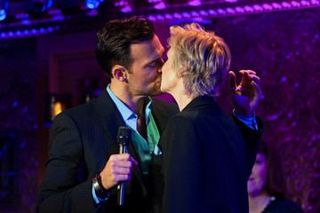 Cheyenne Jackson Jane Lynch at 54 Below with Celeb Friends