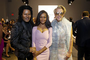 Ty-Ron Mayes, Nichole Galicia and Derek Warburton attend the Chiara Boni front row during New York Fashion Week: The Shows at Gallery II at Spring Studios on September 07, 2019 in New York City.