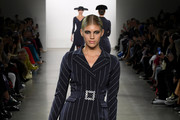 Devon Windsor walks the runway for Chiara Boni during New York Fashion Week: The Shows at Gallery II at Spring Studios on February 08, 2020 in New York City.