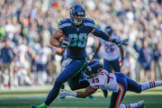 Tight end Jimmy Graham #88 of the Seattle Seahawks rushes for a touchdown against free safety Brock Vereen #45 of the Chicago Bears in the fourth quarter at CenturyLink Field on September 27, 2015 in Seattle, Washington. The Seahawks defeated the Bears 26-0.