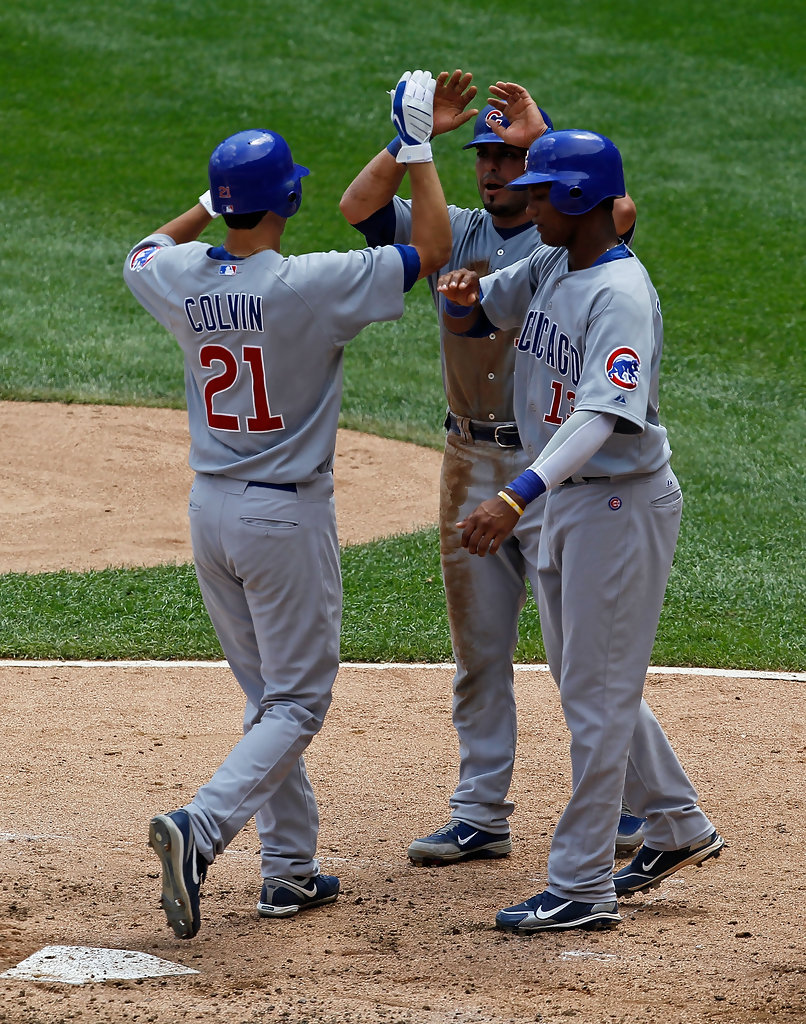 ed17f8ea7 Starlin Castro and Tyler Colvin Photos»Photostream · Pictures. Chicago Cubs  v Chicago White Sox