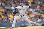 Jon Lester #34 of the Chicago Cubs delivers a pitch in the first inning during the game against the Pittsburgh Pirates at PNC Park on August 16, 2018 in Pittsburgh, Pennsylvania.