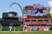 Anthony Rizzo #44 of the Chicago Cubs rounds the bases after hitting a home run against the St. Louis Cardinals in the seventh inning at Busch Stadium on May 5, 2018 in St. Louis, Missouri.