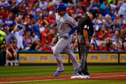 Anthony Rizzo #44 of the Chicago Cubs rounds third base after hitting a home run against the St. Louis Cardinals in the third inning at Busch Stadium on July 27, 2018 in St. Louis, Missouri.